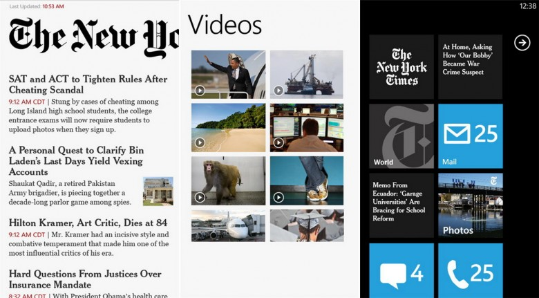 NYTimes Windows Phone