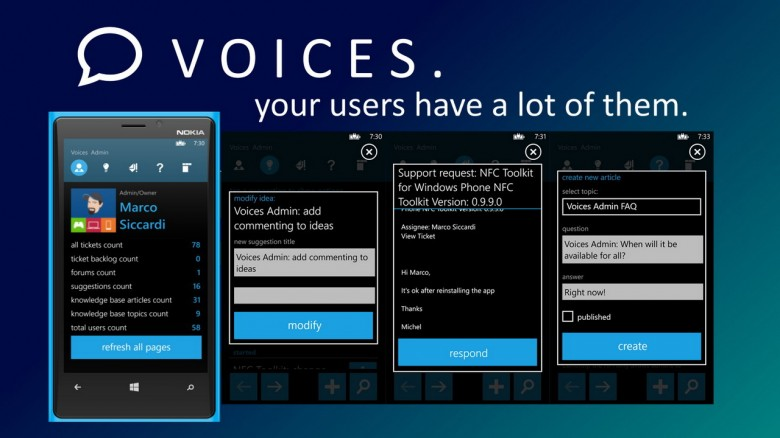 Voices Admin Windows Phone