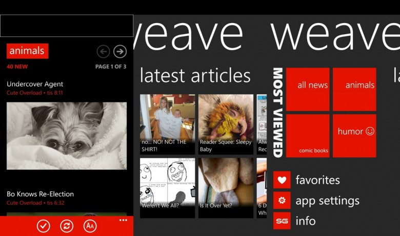 Weave Windows Phone