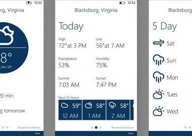 Carry the Weather With You on Your Windows Phone with the Blue Skies Weather App