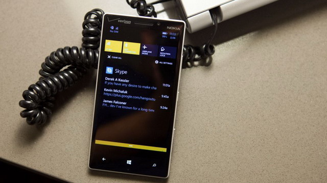 Take a Sneak Peek at the Notification and Action Center in Windows Phone 8.1