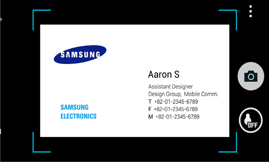 Samsung Releases ATIV BizCard for Windows Phone