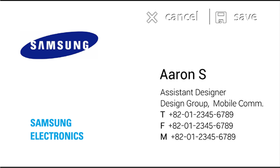 Samsung releases ativ bizcard for windows phone my windows phone the app uses the camera on ativ phones along with optical character recognition in order to scan a business card alternately users can use the camera reheart
