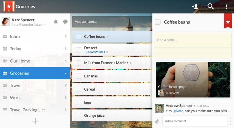 Wunderlist To-Do List Tasks