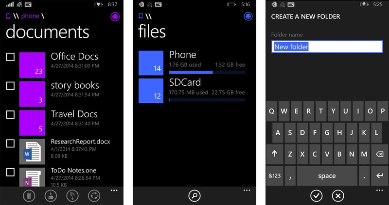 Official File Manager Windows Phone