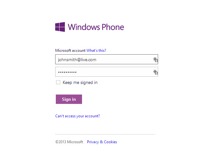 Signing in with Kid's micrsoft account